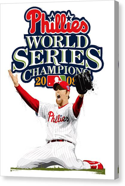 Brad Lidge Ws Champs Logo Canvas Print