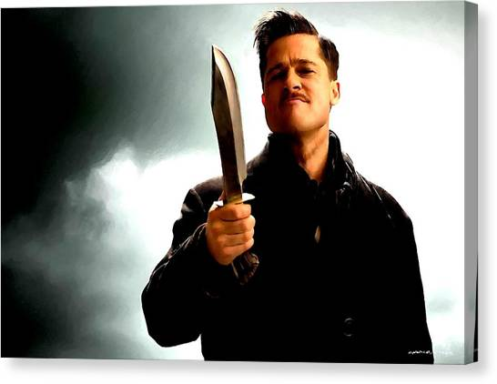Brad Pitt @ Inglourious Basterds By Tarantino Canvas Print