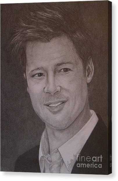 Brad Pitt Canvas Print by Lorelle Gromus