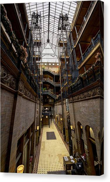 Bladerunner Canvas Print - Bradbury Building by Mike Herdering