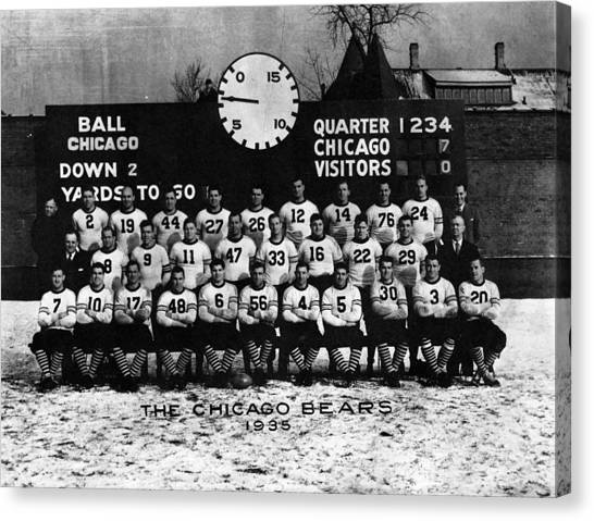 Braces Canvas Print - Chicago Football 1935 by Retro Images Archive