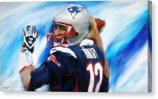 Tom Brady Canvas Print - Brady by Lourry Legarde