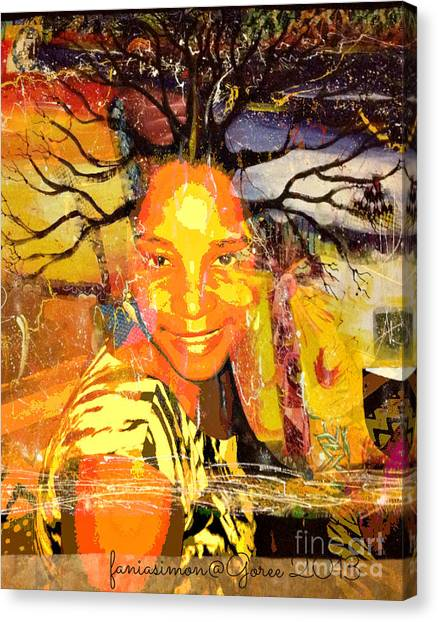 Brain Of Baobab Canvas Print by Fania Simon
