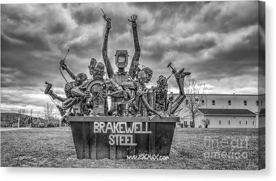Brakewell Steel Canvas Print