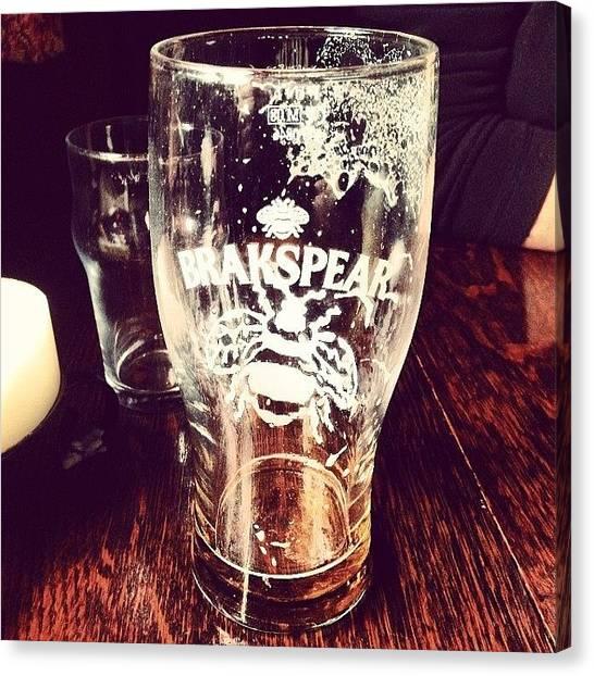 Roast Canvas Print - #brakspear #beer #sunday #pub #lunch by Mark Harris