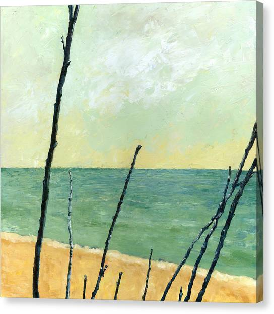 Branches On The Beach - Oil Canvas Print