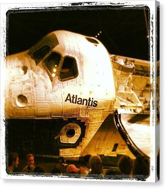 Space Ships Canvas Print - Brand New Atlantis Exhibit At Kennedy by Dwight Darling
