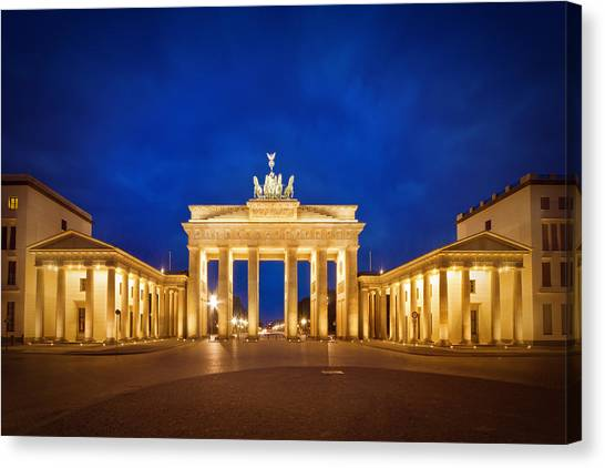 Neoclassical Art Canvas Print - Brandenburg Gate by Melanie Viola