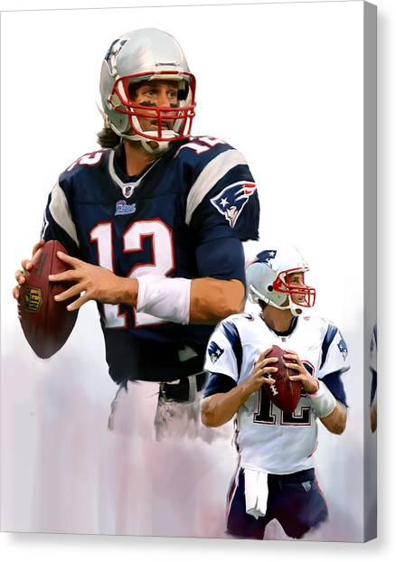 Tom Brady Canvas Print - Brady II  Tom Brady by Iconic Images Art Gallery David Pucciarelli