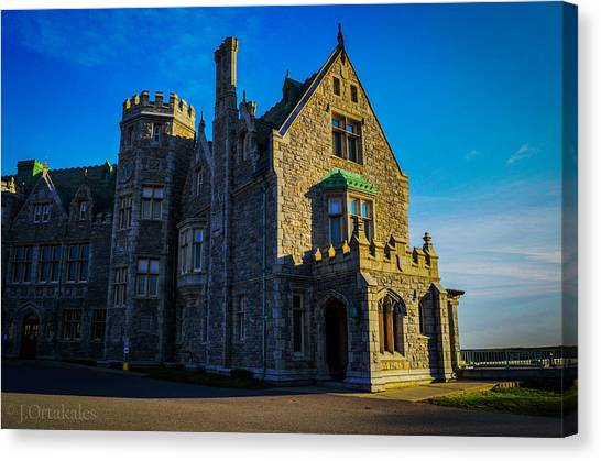 University Of Connecticut Canvas Print - Branford House by Jeff Ortakales
