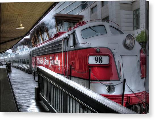 Branson Train Canvas Print by Gary Gunderson