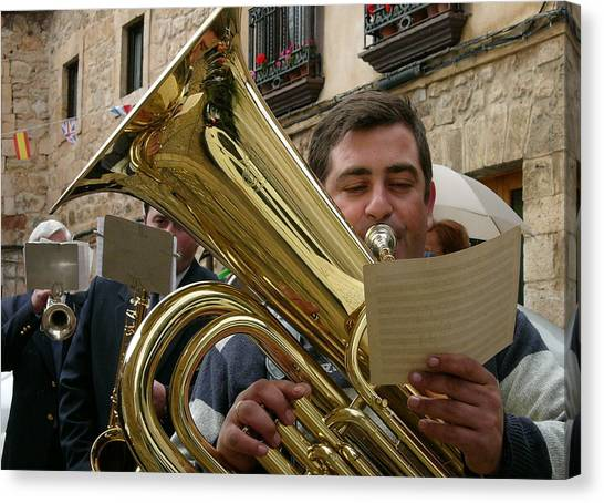 Brass Band-trombone Canvas Print