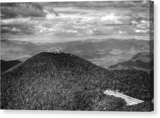 Brasstown Bald In Black And White Canvas Print