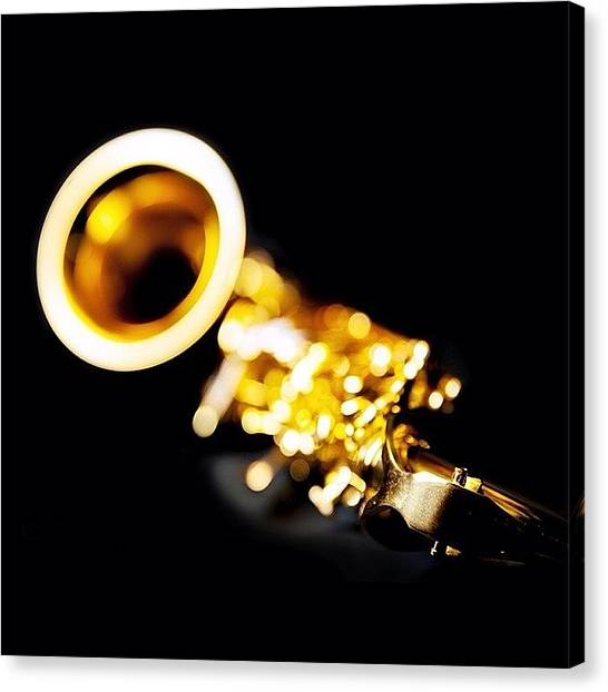 Saxophones Canvas Print - Brassy Reed. #saxophone by Matt Mayer