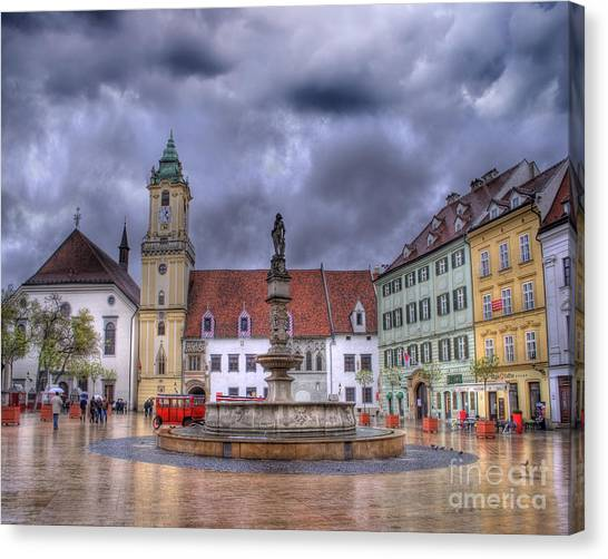 Rococo Art Canvas Print - Bratislava Old Town Hall by Juli Scalzi