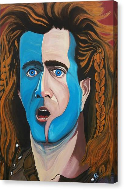Brave Heart  Mel Gibson Canvas Print