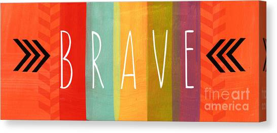 Mother Canvas Print - Brave by Linda Woods