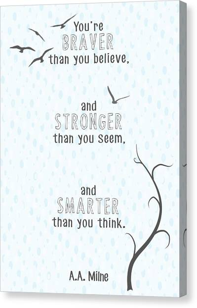 Heather Canvas Print - Braver Stronger Smarter by Heather Applegate