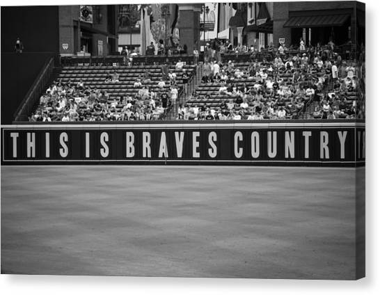 Atlanta Braves Canvas Print - Braves Country by Sara Jackson