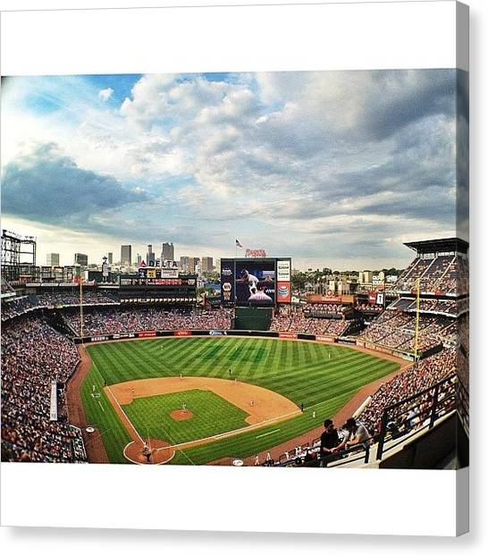Atlanta Braves Canvas Print - Braves Win!  #atlanta #braves #arizona by Blaine Prickett