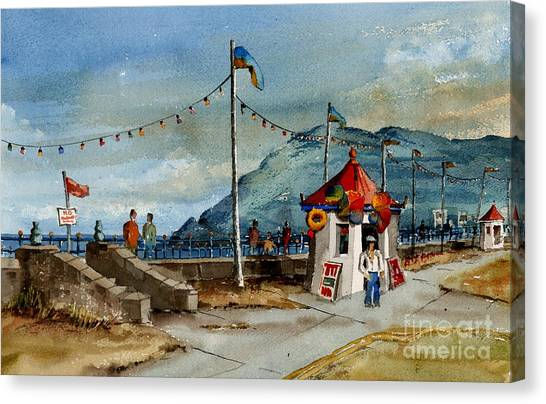 Bray Head And Prom Wicklow Canvas Print