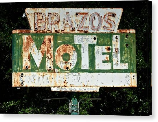 Brazos Motel Canvas Print