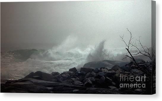 Break In The Storm Canvas Print