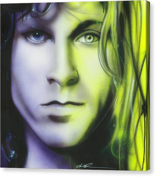Kurt Cobain Canvas Print - Break On Through To Lithium by Christian Chapman Art