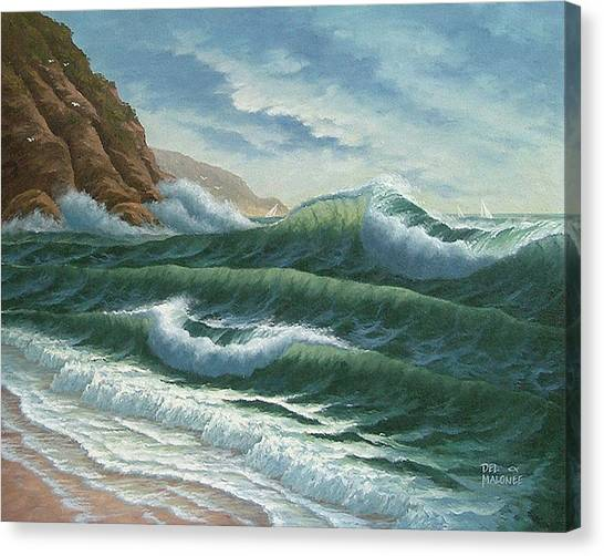Breakers At Big Sur Canvas Print