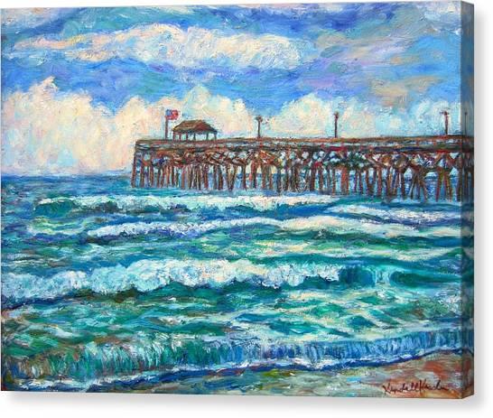 Breakers At Pawleys Island Canvas Print