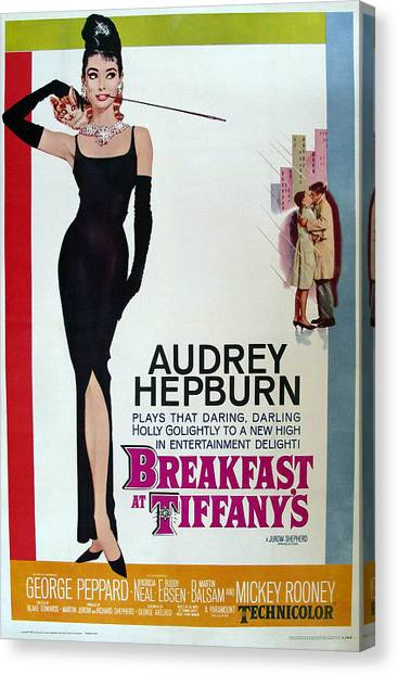 Audrey Hepburn Canvas Print - Breakfast At Tiffany's by Cool Canvas