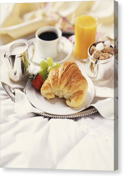 Breakfast In Bed Canvas Print by Armstrong Studios