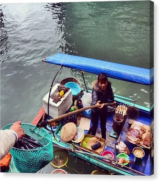Vietnamese Canvas Print - #breakfast Is Served. #shop #sea by Mohammed Wehbi