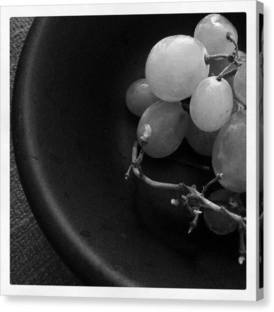 Grapes Canvas Print - Breakfast by Lisette Van De Graaf