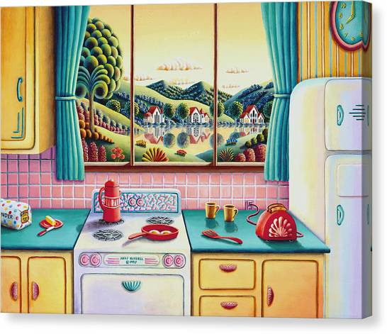 Kitchen Window Canvas Print - Breakfast Of Champions by Andy Russell