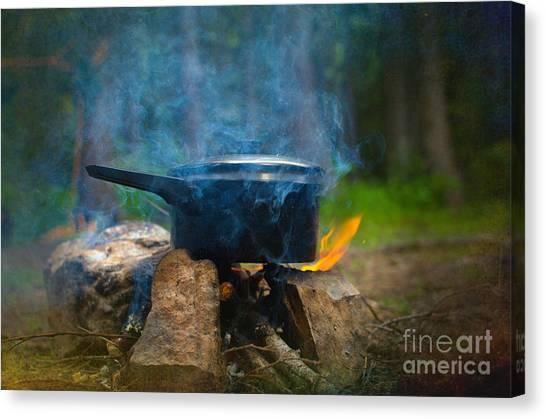 Breakfast Canvas Print by The Stone Age