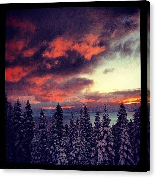 Lake Sunrises Canvas Print - Breakfast by Tim  Rantz