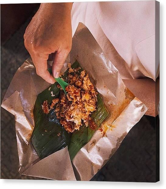 Georgetown University Canvas Print - #breakfastproject Shrimp Seller's by David  Hagerman