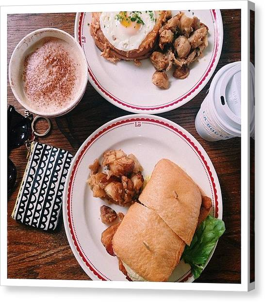 Sandwich Canvas Print - Breakfie In Sf 11.1.14♥︎ by Atsuyo Takada