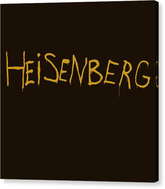 Tv Shows Canvas Print - Breaking Bad Amc - Heisenberg Spraypaint by Paul Telling