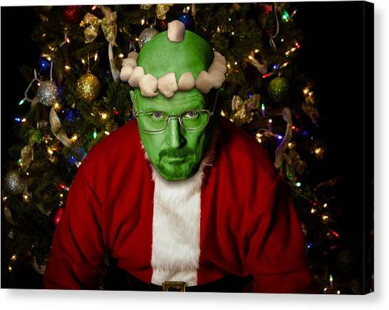 Grinch Canvas Print - Breaking Bad Santa by Randy Turnbow