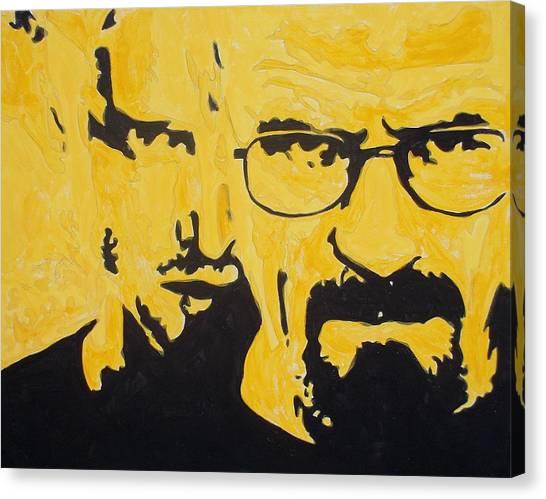 Breaking Bad Yellow Canvas Print