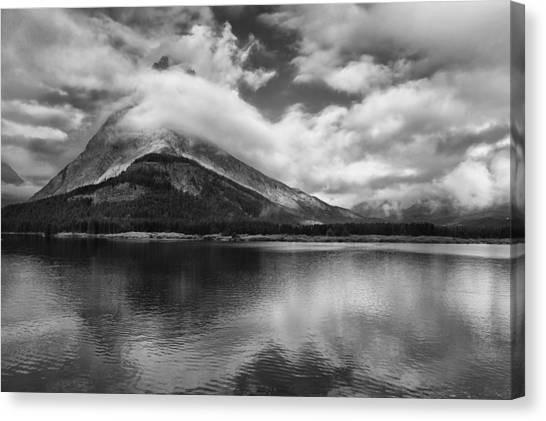 Glacier National Park Canvas Print - Breaking Clouds by Andrew Soundarajan