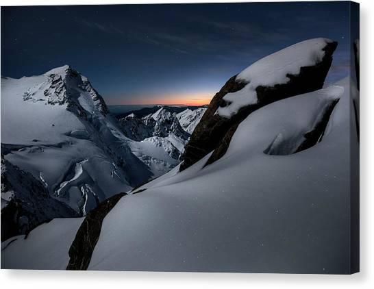 Glaciers Canvas Print - Breaking Dawn by Yan Zhang
