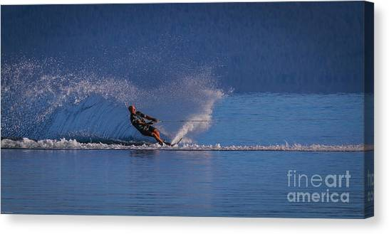 Water Skis Canvas Print - Breaking Glass by Mitch Shindelbower