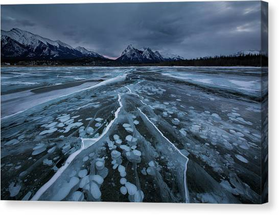 Alberta Canvas Print - Breaking Ices by Donald Luo