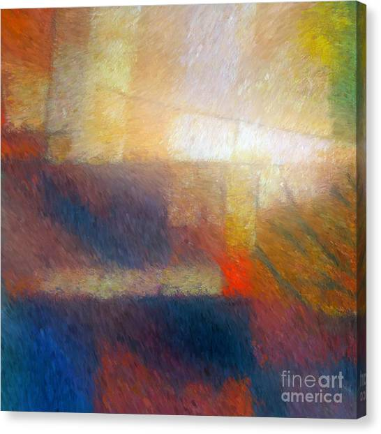 Abstract Digital Canvas Print - Breaking Light by Lutz Baar