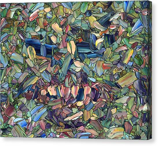 Mosaic Canvas Print - Breaking Rank by James W Johnson