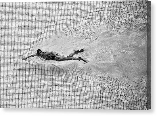 Checker Canvas Print - Breaking The Net by C.s. Tjandra