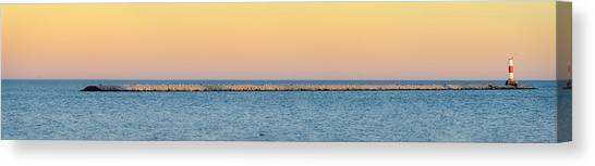 Breaking The Sunset Canvas Print
